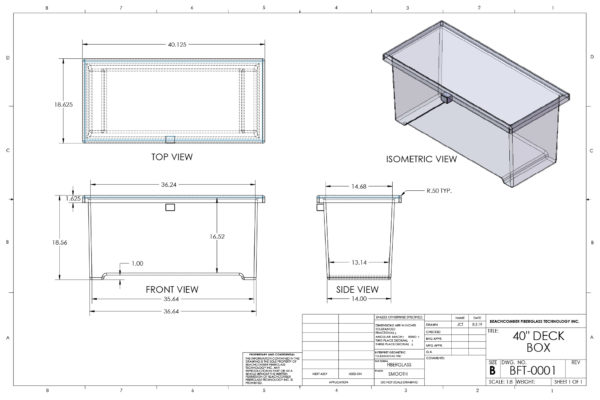 40 inch Deck Box Dimensions