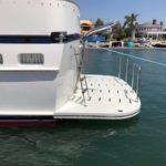 fiberglass swim platform